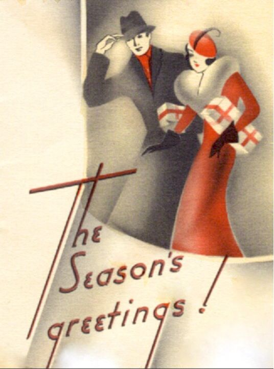 vintage christmas and new year cards